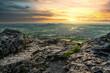 Bergblick Sonnenuntergang