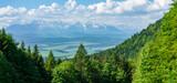 Fototapeta Na sufit - Widok na Tatry z przełęczy Szopka w Pieninach