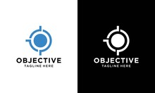 Archer, Target, Goal, Aim Blue Solid Logo With Place For Tagline. Vector Icon Template