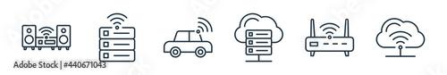 Fotografie, Obraz outline set of internet of things line icons