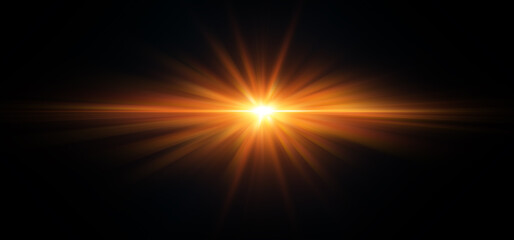Flare bright light fire high power effect abstract for background graphics design element.Sun sunny way out concept.