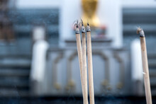 Incense In The Chinese Buddhism Temple
