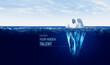 Leinwandbild Motiv Discover your hidden talent concept with iceberg