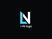 LN Or NL Logo And Icon Designs With Different Colors And Backgrounds