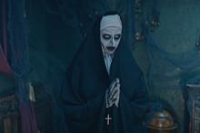 Gothic Nun In Chapel