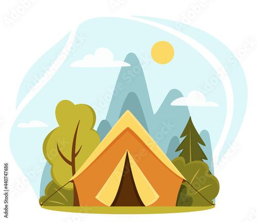 Foto Summer camp concept