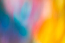 Absract Blurred Bokeh Colorful Backdrop. Blurred Colourful Bokeh Background With Defocused Lights