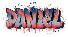 Graffiti Styled Name Design - Daniel  Cool Legible Graffiti Art