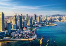 Aerial Photography Of Qingdao City Coastline Scenery