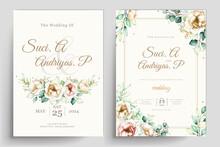 Elegant Peony Flowers Invitation Card Set