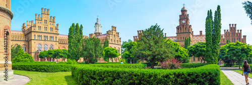 Obraz na plátne The panorama of the University of Chernivtsi, Ukraine