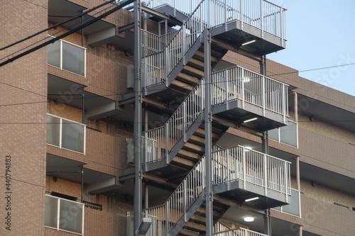 Fotografie, Obraz 屋上の避難階段 外階段