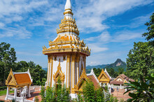 Loei-Thailand-23 Oct 2020:Wat Pra Putthabat Phu Kwai Ngoen At Chiang Khan District Loei Thailand.Chiang Khan Rabbit Temple – Wat Pra Putthabat Phu Kwai Ngoen