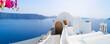 Leinwandbild Motiv beautiful details of Santorini island, Greece
