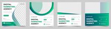 Digital Marketing Social Media Post Banner Template Set, Social Media Post Banner Design Template. Business Marketing Post. Digital Marketing Agency Post Banner Set, Digital Marketing Expert Banner.