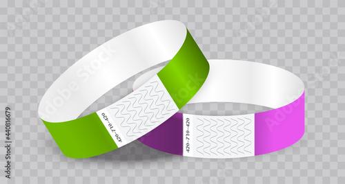 Fotografie, Obraz Empty paper or tyvek bracelet or wristband