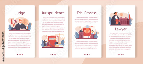 Fotografiet Judge mobile application banner set