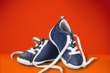 Stability And Cushion Running Shoes Sneaker Or Trainer. Men's Sports Footwear.