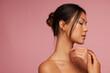Leinwandbild Motiv Young asian woman with beautiful skin