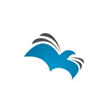 Bird Book Logo Icon For Church Or Education