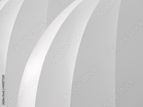 architecture white roof of building with corner curve texture Fototapet
