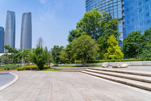 Chengdu Cityscape Modern Office Building  With Copy Space