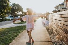 Little Girl Holding Easter Bunny Basket