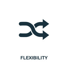 Flexibility Icon. Monochrome Simple Element From Soft Skill Collection. Creative Flexibility Icon For Web Design, Templates, Infographics And More