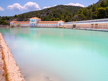 A Disused And Abandoned Hydrotherapy Facility With A Thermal Water Pool At The Methana Spa Resort In The Peloponnese In Greece