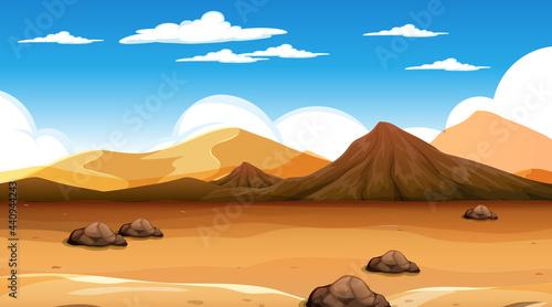 Fotografie, Tablou Desert forest landscape at daytime scene
