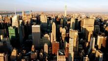 Skyscraper View From Manhattan In New York, World Capital City, United States Of America, North America