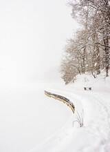 Zemborzycki Lakefront At Snowstorm, Lublin, Lublin Voivodeship, Poland
