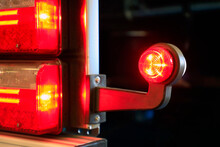 Tail Light Of Truck Detail