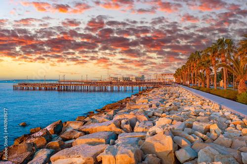 Embankment in Cyprus Fototapeta