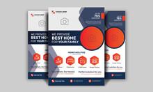 Corporate Real Estate Flyer Template | Real Estate Marketing Poster | Modern Leaflet Design Vector | Property Sale Flyer