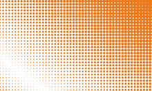 Halftone Background With Pumpkin Color