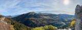 Vue panoramique en montagne