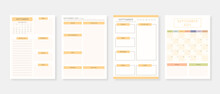 September 2021 - Planner. Modern Planner Template Set. Set Of Planner And To Do List. Monthly, Weekly, Daily Planner Template. Vector Illustration.