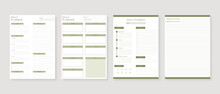 Modern Planner Template Set. Set Of Planner And To Do List. Monthly, Weekly, Daily Planner Template. Vector Illustration.