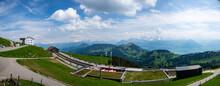 Vistas Desde La Cima Del Monte Rigi En Los Alpes Suizos