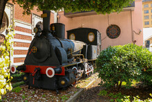 Selective Focus The First Train Built In 1888 Is On Display At Istanbul Sirkeci Station