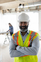 Portrait Of Construction Foreman On Site Of Office Renovation