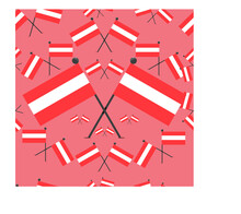 Vector Illustration Of Pattern Austria Flags And Color Background.