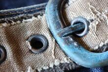 Macro Photo Of Old Rusty Copper Belt Buckle