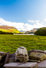 View Of Snowdonia, Through Nantlle Valley, Wide Angle And Wall.