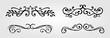 calligraphic floral element