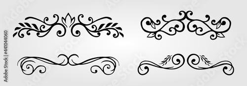 Photographie calligraphic floral element