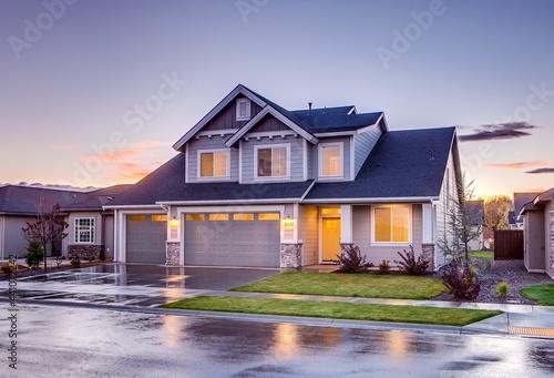 Fotografia, Obraz house at sunset