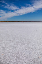 Textured Surface Of Dry Salt Lake