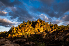 Rocky Outcrop Lit By The Sunset